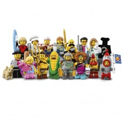 Lego Collectible Minifigures 71018 Series 17 Complete Set of 16
