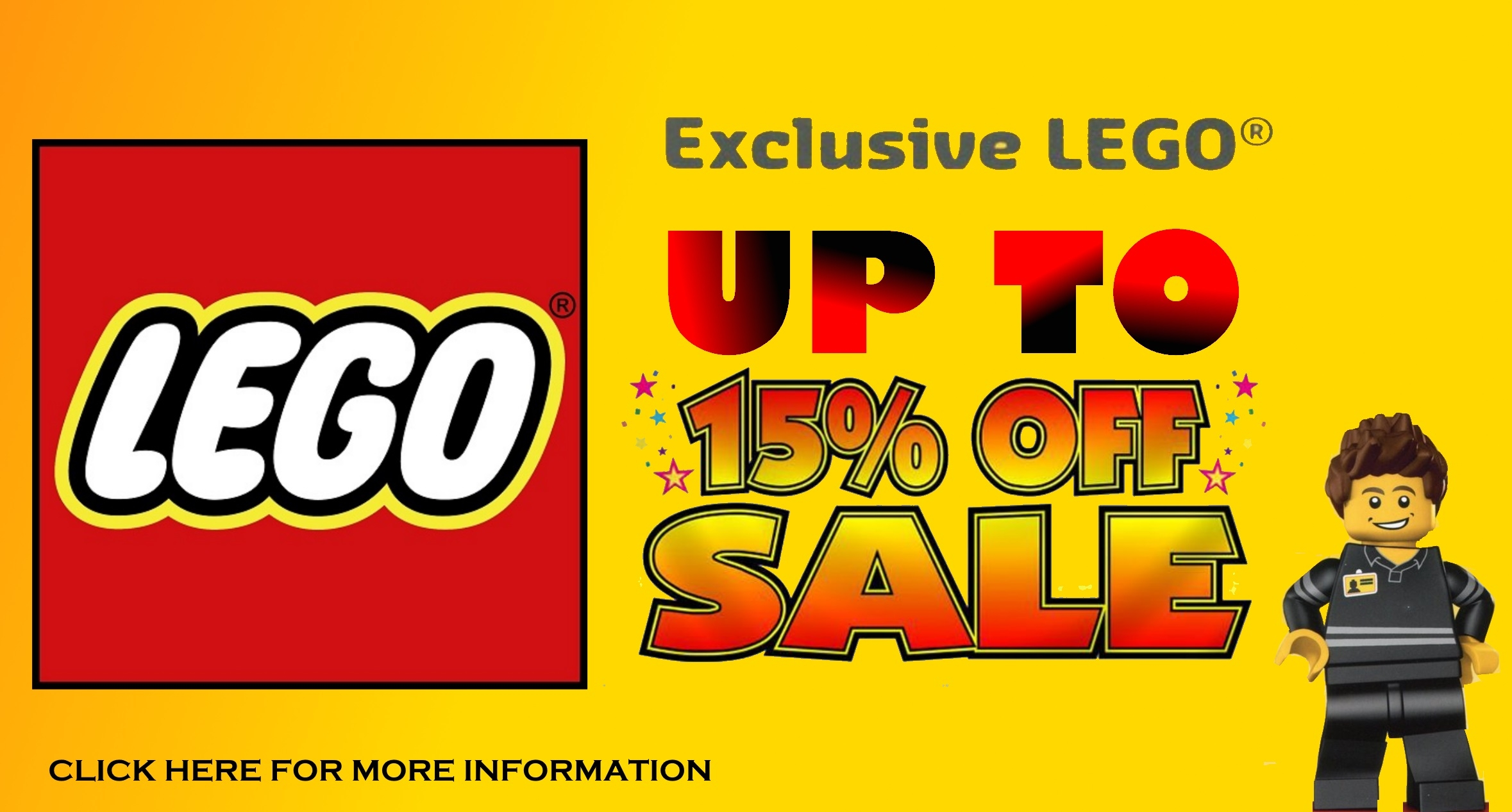 UP TO 15% OFF SALES FOR LEGO EXCLUSIVE