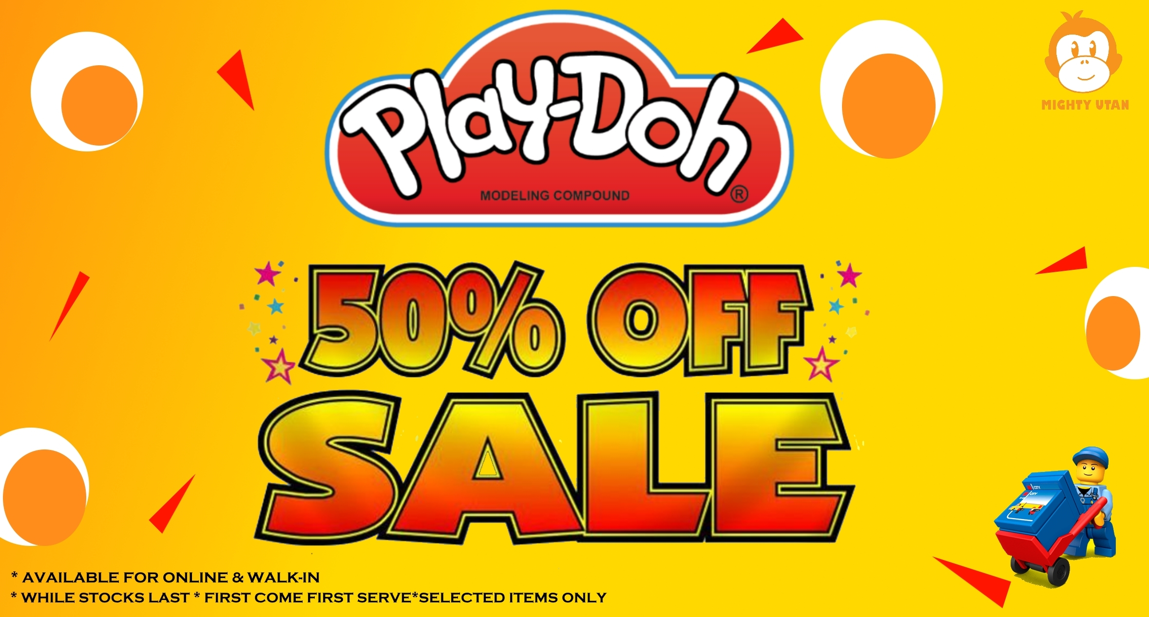PLAY-DOH SALES 50% OFF!