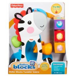 Fisher-Price Infant Roller Blocks Tumblin Zebra (6+ Months)