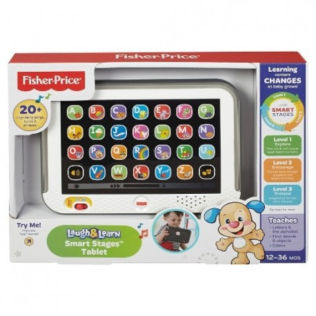 Fisher Price Laugh & Learn Smart Stages Tablet - Grey (12 - 36 Months)
