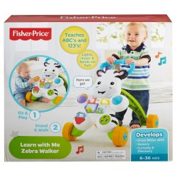 Fisher-Price Infant Learn with Me Zebra Walker (6+ Months)