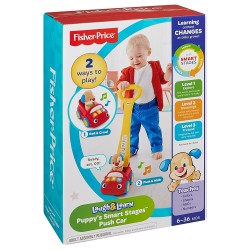 Fisher-Price Laugh and Learn Puppy's Smart Stages Push Car (6 - 36 Months)