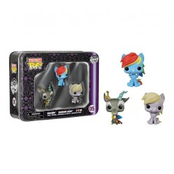 Funko Pocket Pop! My Little Pony 3 Pack Tin - Rainbow Dash, Discord, and Derpy