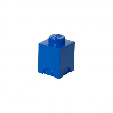 LEGO Storage Brick 1 Knobs - Blue