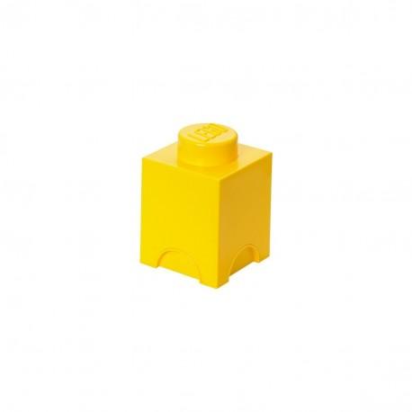 LEGO Storage Brick 1 Knobs - Yellow