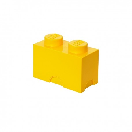 LEGO Storage Brick 2 Knobs - Yellow