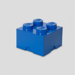 LEGO Storage Brick 4 Knobs - Blue