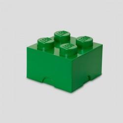 LEGO Storage Brick 4 Knobs - Dark Green