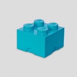 LEGO Storage Brick 4 Knobs - Medium Axur (Blue)