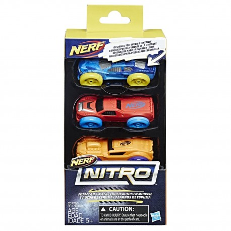 Nerf Nitro Foam Car 3-Pack (Pack 2)