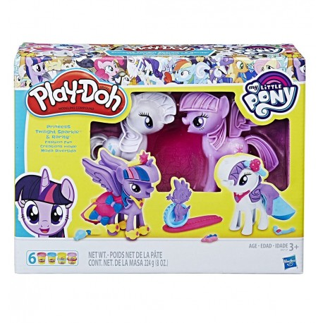 Play Doh My Little Pony Princess Twilight Sparkle and Rarity Fashion Fun