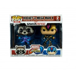 Funko Pop! Games: Marvel Vs Capcom 2PK - Rocket Vs. Mega Man X (2 Pack) (Exclusive)