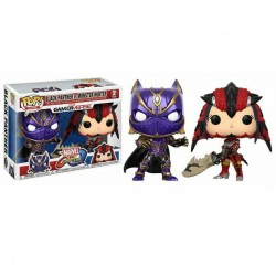 Funko Pop! Games: Marvel Vs Capcom 2PK - Black Panther Vs. Monster Hunter (2 Pack)