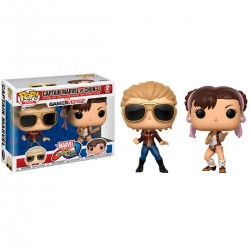 Funko Pop! Games: Marvel Vs. Capcom 2PK - Captain Marvel Vs. Chun- Li (2 Pack)