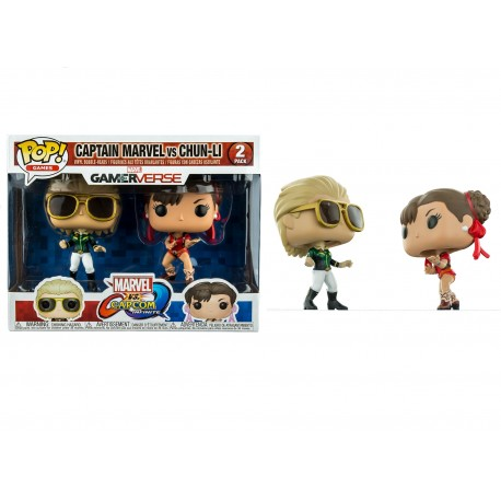 Funko Pop! Games: Marvel Vs. Capcom 2PK - Captain Marvel Vs. Chun- Li (2 Pack) (Exclusive)