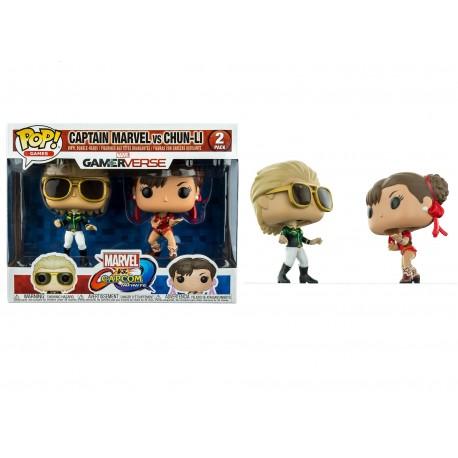 Funko Pop! Games: Marvel Vs. Capcom 2PK - Captain Marvel Vs. Chun- Li (2 Pack) (Exclusive)