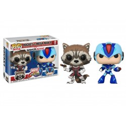 Funko Pop! Games: Marvel Vs Capcom 2PK - Rocket Vs. Mega Man X (2 Pack)