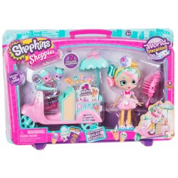 Shopkins Shoppies World Vacation Peppa-Mint's Gelati Scooter