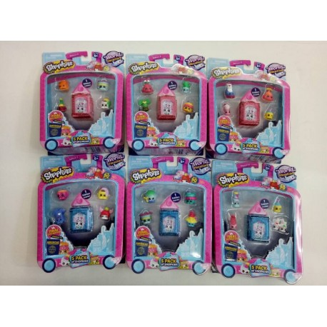 Shopkins World Vacation S8 America Theme 5 Pack Assorted