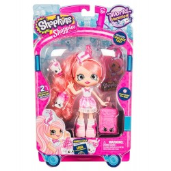 Shopkins Shoppies World Vacation Visits America Doll - Pinkie Cola