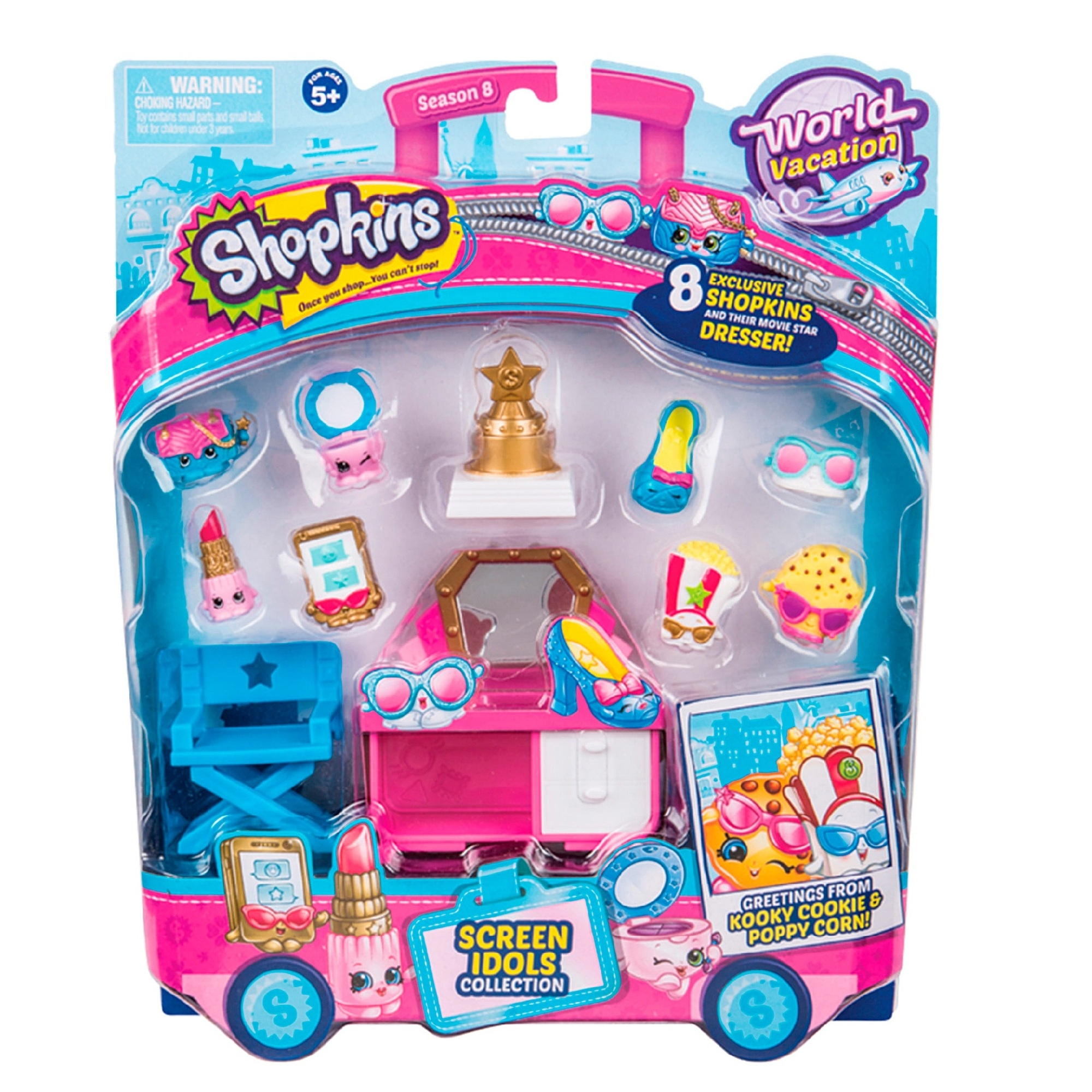 Shopkins World Vacation S8 America Screen Idols Collection