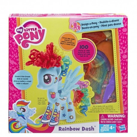 My Little Pony Design-a-Pony Rainbow Dash 7-Inch Figure kit