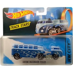 Hot Wheels Track Stars Custom Volkwagen Hauler Truck (Blue)