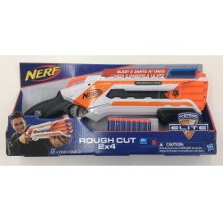 Nerf N-Strike Elite Rough Cut 2x4 Blaster - Blue