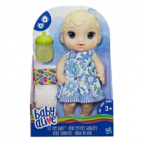 Baby Alive Lil Sips Baby- Blonde Sculpted Hair