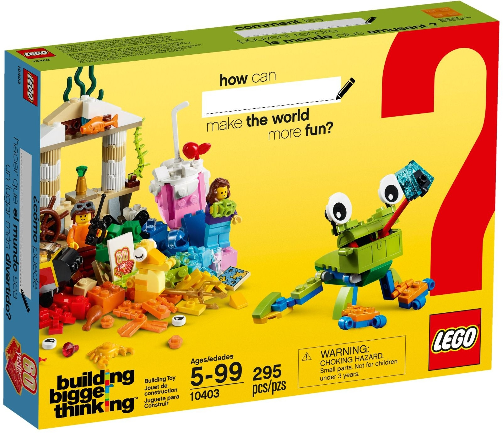 Classic Mighty Utan Malaysia Lego 10709 Orange Creativity Box 10403 World Fun
