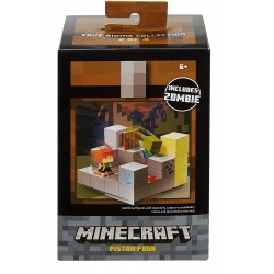 Minecraft Piston Push Mini Figure Environment Set
