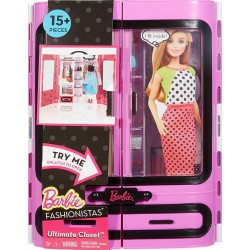 Barbie Fashionista Fab Fashion Closet - Purple