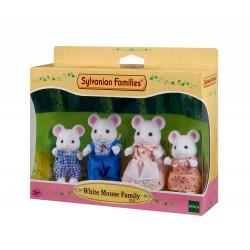Sylvanian Families White Mouse Family