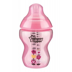 Tommee Tippee Closer To Nature Tinted Bottle 260ml/9oz- Pink (1 Pack)