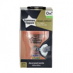 Tommee Tippee Closer To Nature Tinted Bottle 260ml/9oz- Peach (1 Pack)