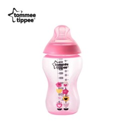 Tommee Tippee Closer To Nature Tinted Bottle 340ml/12oz- Pink ( 1 pack)