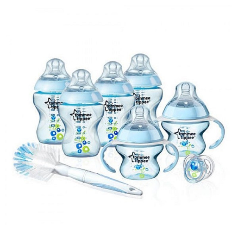 Tommee Tippee Closer To Nature Decorated Bottle Starter Kit Blue