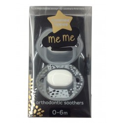 Tommee Tippee MeMe Soother 0-6 Months - White (2 Pack)