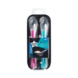 Tommee Tippee First Weaning Spoons Pink and Teal