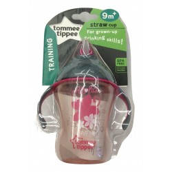 Tommee Tippee Easy Drink Straw Cup 230ml/8oz - Pink (1 Pack)