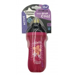 Tommee Tippee Insulated Straw Cup 260ml/9oz - Pink (1 Pack)