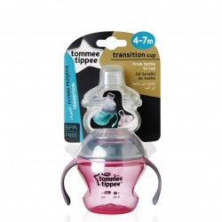 Tommee Tippee Closer To Nature First Straw Transition Cup - Pink