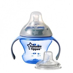 Tommee Tippee Closer To Nature First Straw Transition Cup - Blue