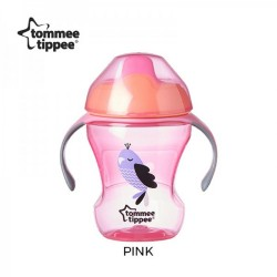 Tommee Tippee Easy Drinking Cup/Training Sippee Cup 230ml/8oz - Pink (1 Pack)
