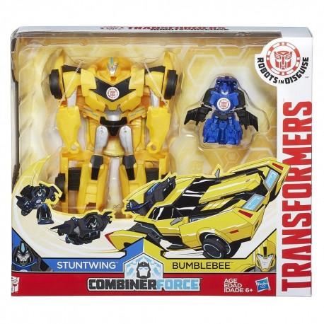 Transformers Robots in Disguise Combiner Force Activator Combiners Bumblebee and Stuntwing