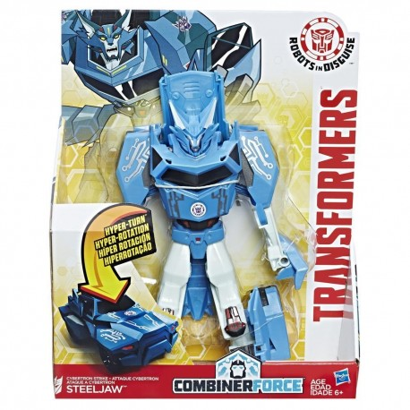 Transformers Robots in Disguise Combiner Force 3-Step Changer Cybertron Strike Steeljaw