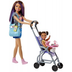 Barbie Skipper Babysitters Stroller Playset