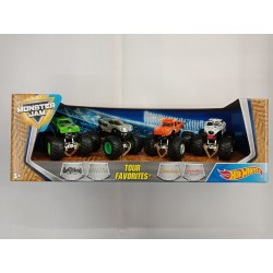 Hot Wheels Monster Jam Tour Favorites 1 (4-Pack)