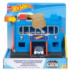Hot Wheels City Downtown Police Station Breakout Playset